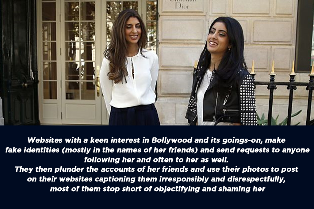 Navya Naveli Nanda (R), granddaughter of Bollywood actor Amitabh Bachchan, speaks with her mother Shweta Bachchan Nanda, as they arrive at the Dior headquarters in Paris for a fitting session on September 2, 2015.  Navya Naveli Nanda will take part in the annual debutante ball in Paris next November 28.    AFP PHOTO / PATRICK KOVARIK