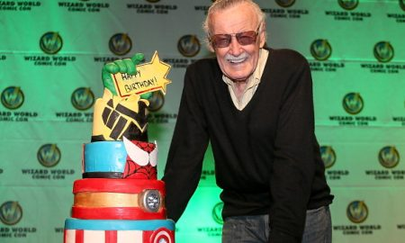 AUSTIN, TX - NOVEMBER 23:  Stan Lee is presented with a birthday cake for his 91st birthday which is on December 28th during the Wizard World Austin Comic Con at the Austin Convention Center on November 23, 2013 in Austin, Texas.  (Photo by Gary Miller/FilmMagic)