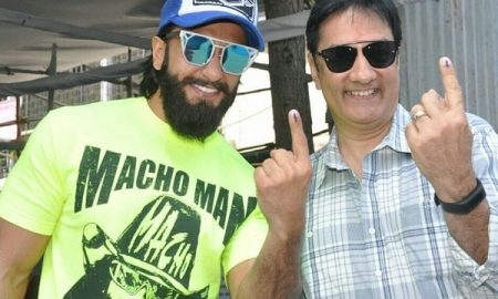 ranveer-singh-and-father-cast-votes-for-bmc-elections