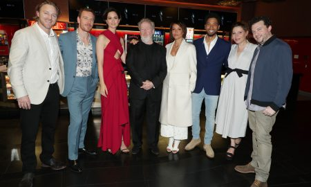 Nathaniel Dean, Michael Fassbender, Katherine Waterston, Ridley Scott, Carmen Ejogo, Jussie Smollett, Amy Seimetz and Danny McBride at the world famous Chinese Theater.