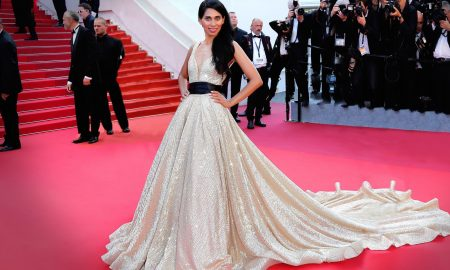 Fagun Thakrar arrives at the closing night gala at the 70th Cannes Film Festival