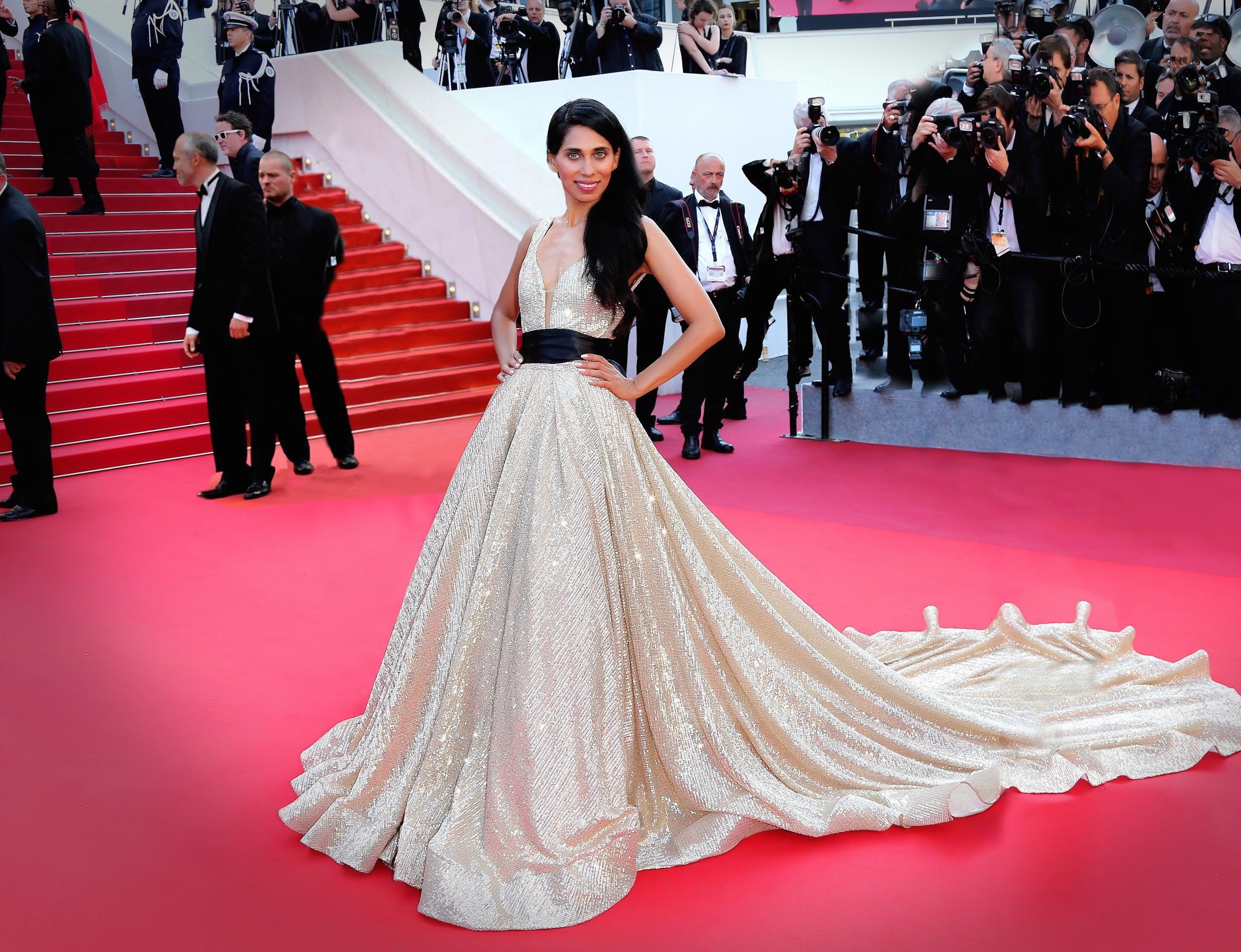 Fagun Thakrar arrives at the closing night gala at the 70th Cannes Film Festival