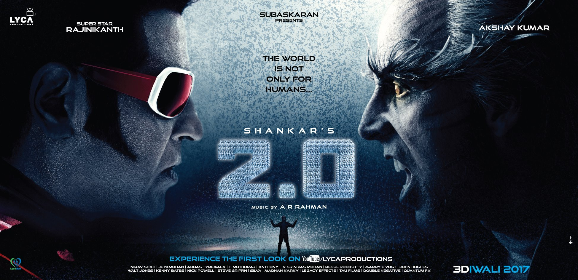 2.0 first look rajinikanth and akshay kumar
