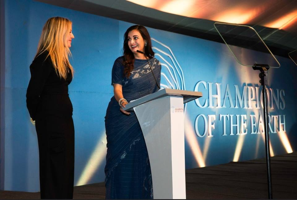 Dia Mirza At The Earth Champs Awards At The UN Environment Assembly In Nairobi