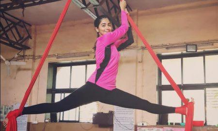 Pooja hegde aerial yoga