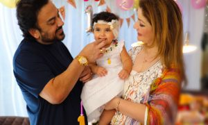 adnan sami on daughter medina's first birthday