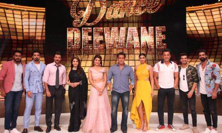 Race 3 cast on the sets of dance deewane