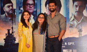 Vicky Kaushal, Alia Bhatt & Meghna Gulzar at the Raazi Success Press Conference