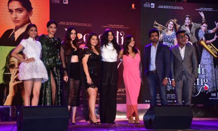 Swara Bhasker, Sonam Kapoor Ahuja, Kareena Kapoor Khan, Shikha Talsania, Rhea Kapoor, Ekta Kapoor, Nikkhil Dwivedi and Shashwat at the Veere Di Wedding Music Launch