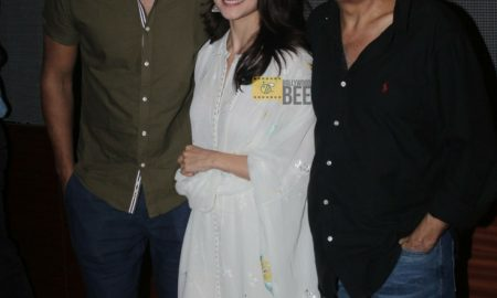 Vicky Kaushal, Alia Bhatt & Mahesh Bhatt at the raazi special screening