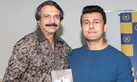 author-chaitanya-padukone-presents-a-copy-of-rd-burmania-to-celebrated-singer-actor-sonu nigam