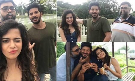 dulquer salmaan-treats-the-team-of-karwaan