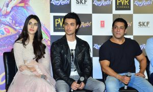 b-town welcomes aayush sharma and warina hussain