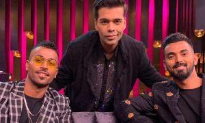 Karan Johar with Hardik Pandya and KL Rahul