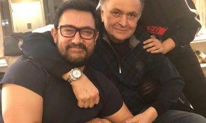 Aamir Khan with Rishi Kapoor and Neetu Kapoor