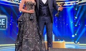 Ranbir Kapoor and Alia Bhatt at Filmfare 2019
