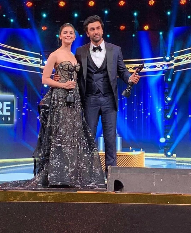 Ranbir Kapoor and Alia Bhatt at Filmfare 2019