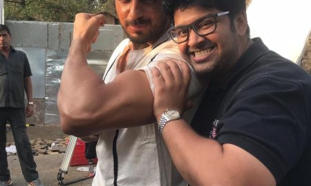 Sidharth Malhotra on the sets of Marjaavaan