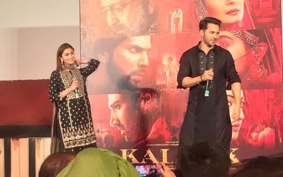 Varun Dhawan & Alia Bhatt at the song launch of First Class from Kalank