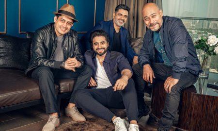 Jackky Bhagnani with Nitin Kakkar, Rahil Barve and Vijay Lalwani