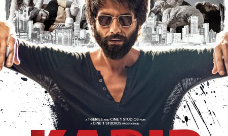 Shahid Kapoor on the poster of Kabir Singh