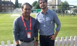 Tahir Raj Bhasin and Sunil Gavaskar