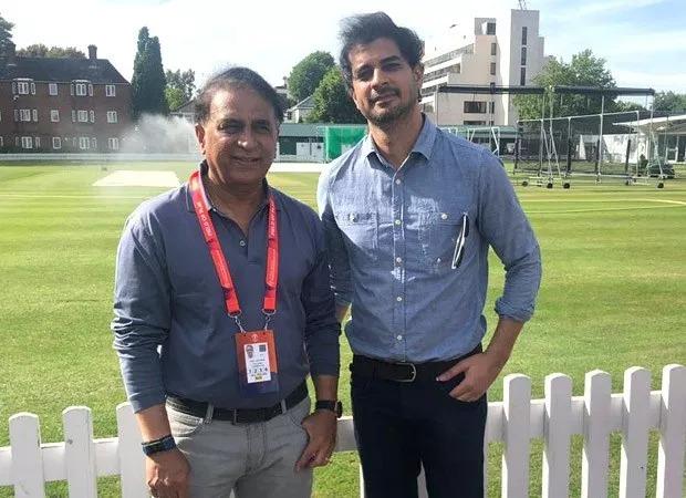 Tahir Raj Bhasin and Sunil Gavaskar