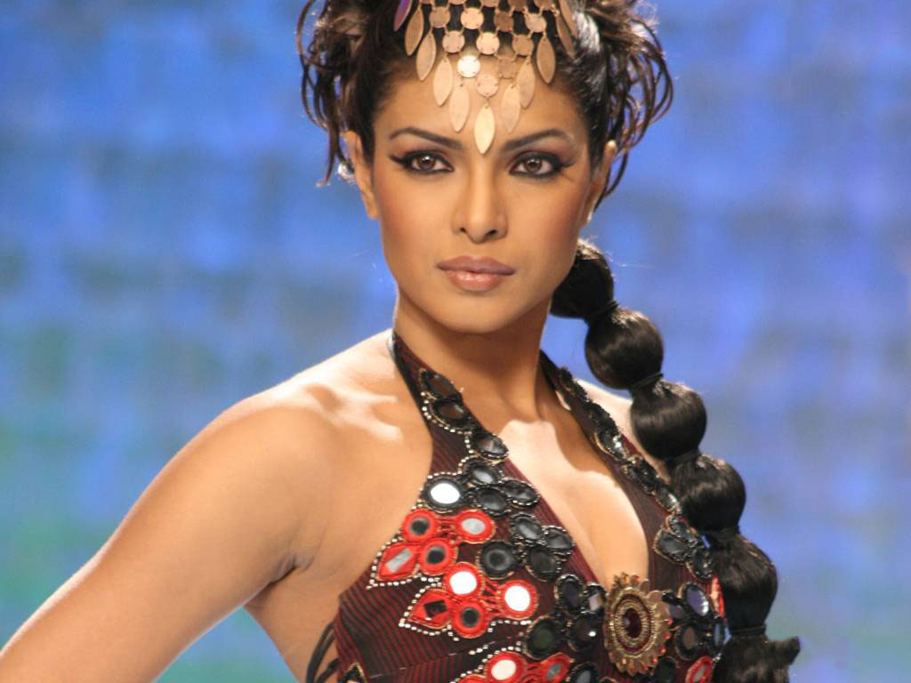 Priyanka Chopra in a catwalk scene from Fashion