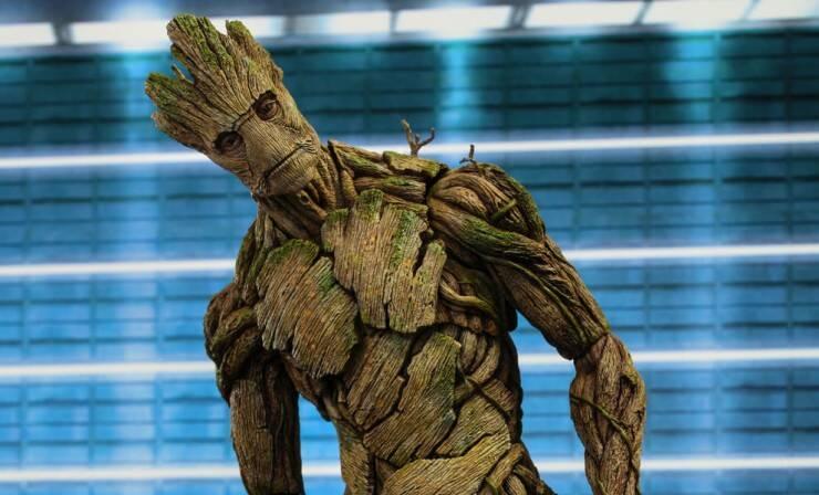 Vin Disesel as Groot in Guardians Of Galaxy