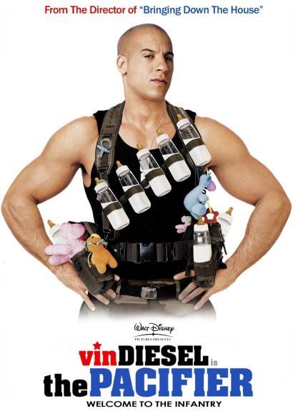 Vin Diesel as Lieutenant Shane Wolfe in The Pacifier