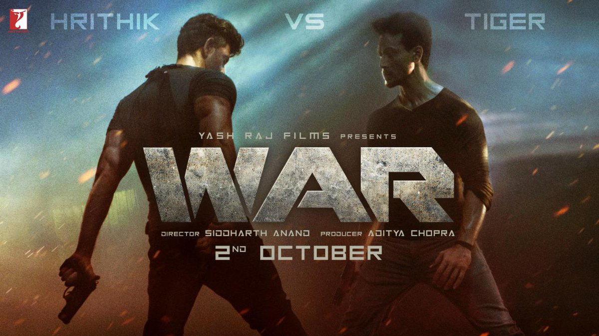 Hrithik Roshan and Tiger Shroff in WAR