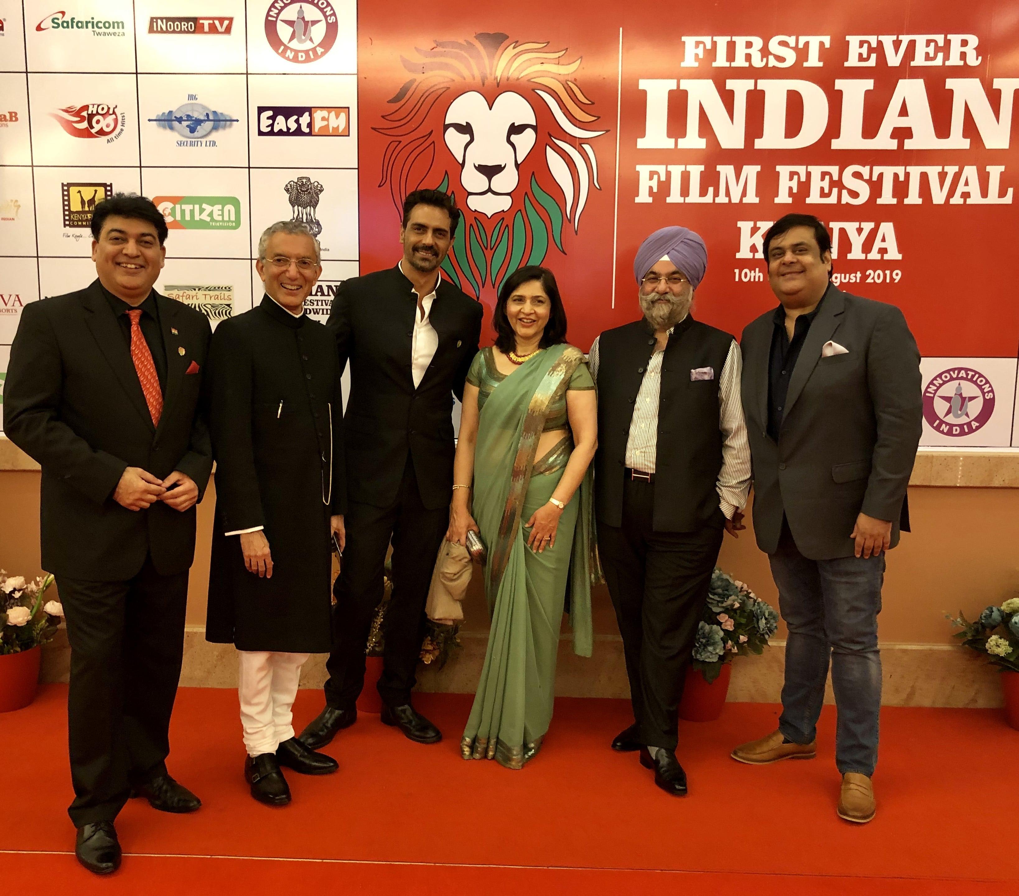Raju Chadha, Arjun Rampal & Rahul Mittra Felicitated At The Indian Film Festival Kenya