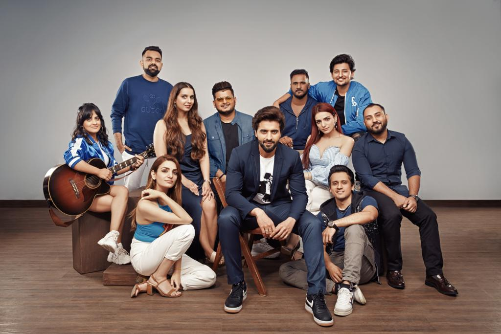 Jackky Bhagnani and the crew of JJust Music