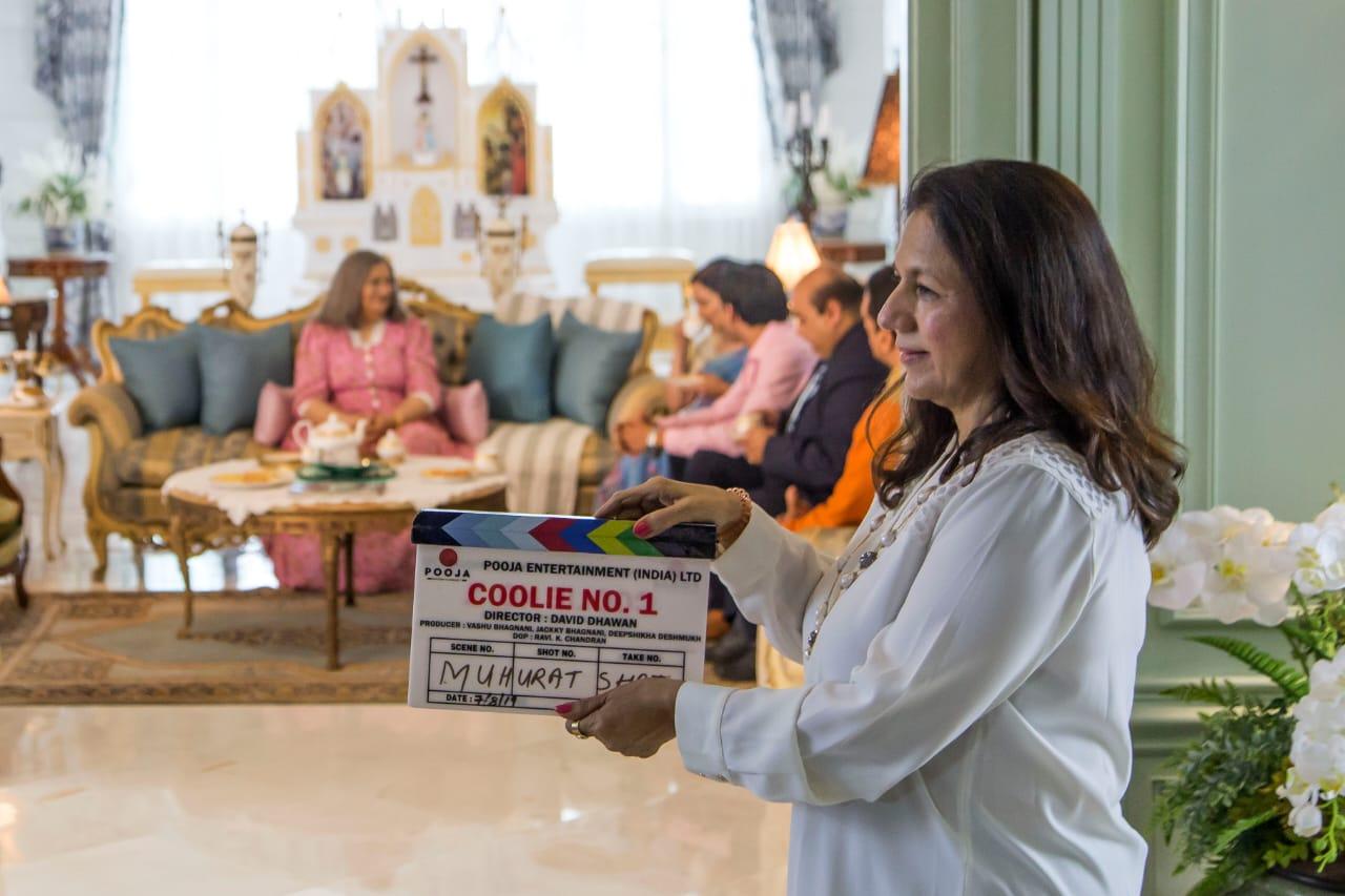 Varun Dhawan's mother, Karuna Dhawan gave the film its mahurat clap.